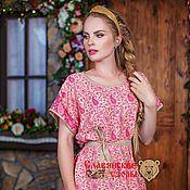 Одежда ручной работы. Ярмарка Мастеров - ручная работа Платье-туника розовое. Handmade.