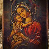 Картины и панно handmade. Livemaster - original item The seeking of the lost Icon of the Mother of God - written hot colors. Handmade.