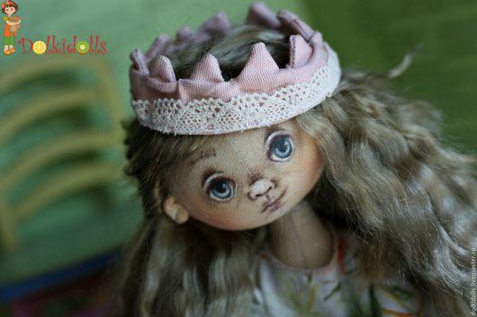 куклы текстильные, принцесса, корона, авторская коллекционная кукла, шарнирная кукла, шарнирная кукла из ткани, шарнирная текстильная кукла