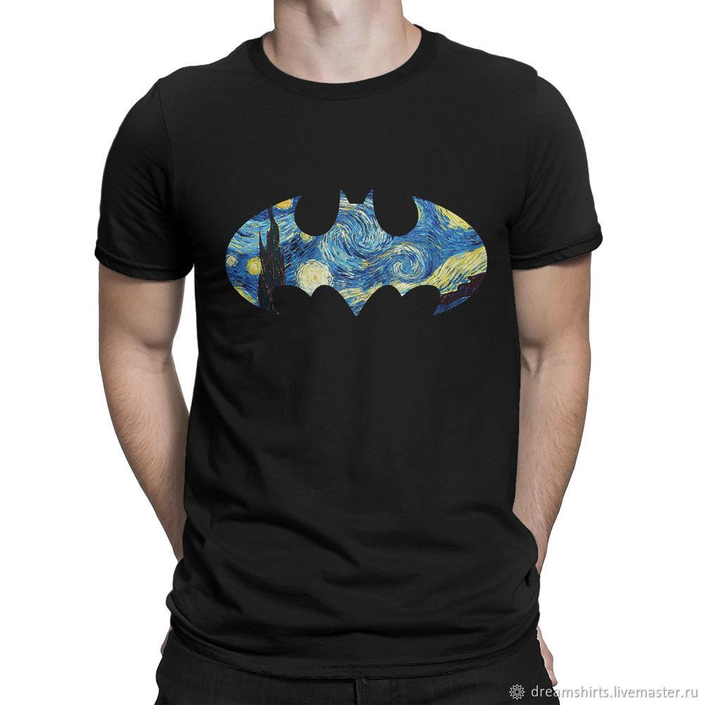 "Футболка хлопковая ""Бэтмен - Звездная Ночь"", T-shirts, Moscow,  Фото №1"