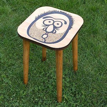 Мебель ручной работы. Ярмарка Мастеров - ручная работа Табурет с картинкой. Handmade.