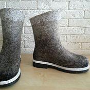 Обувь ручной работы. Ярмарка Мастеров - ручная работа Полусапожки валяные. Handmade.