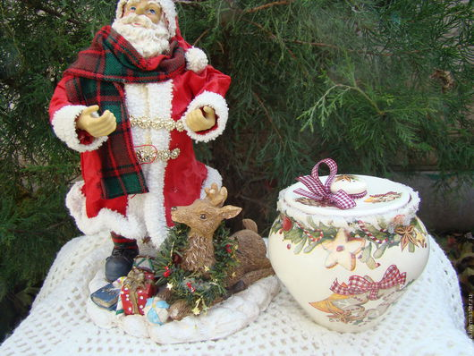 Кухня ручной работы. Ярмарка Мастеров - ручная работа. Купить Горшочек Новогодние прянички. Handmade. Комбинированный, сладости, новогодние подарки