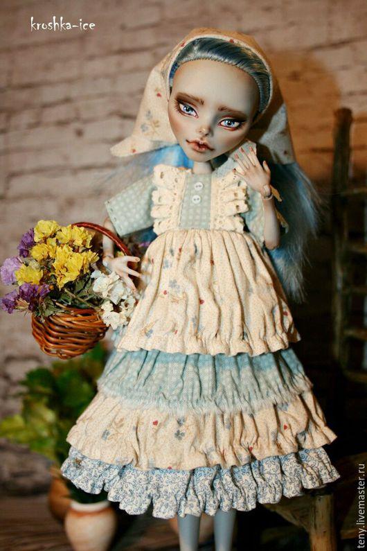 Одежда для кукол ручной работы. Ярмарка Мастеров - ручная работа. Купить Одежда для кукол Monsterhigh. Handmade. Монстер хай, голубой