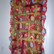 Аксессуары ручной работы. Ярмарка Мастеров - ручная работа Шарф валяный на ткани. Handmade.