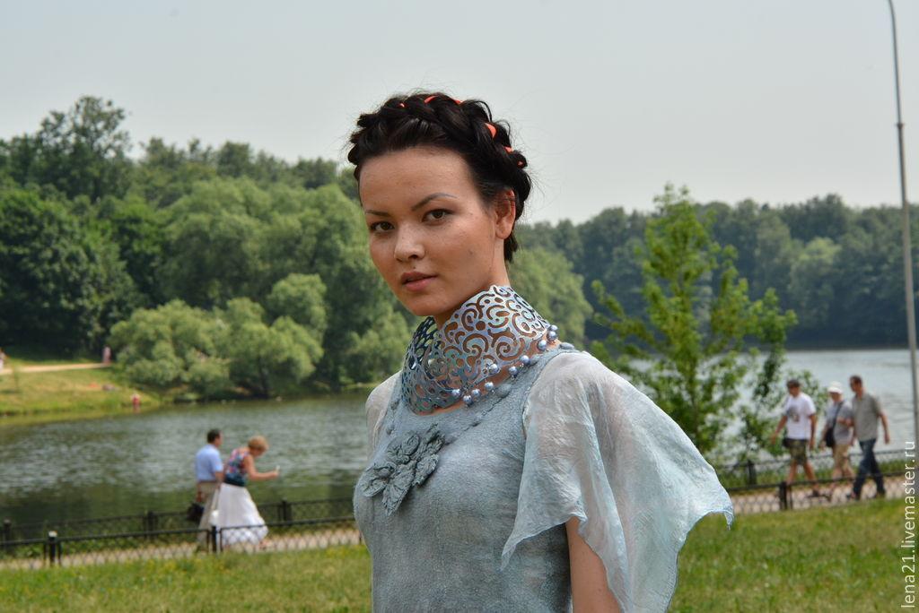 Серо-голубое платье с крыльями, Платья, Раменское,  Фото №1
