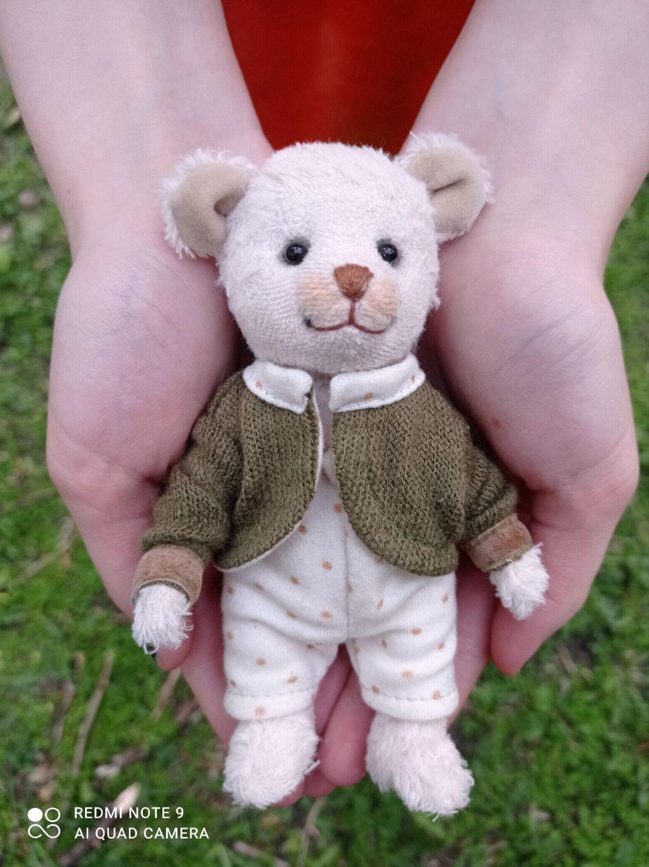 Белый медвежонок в пижамке, Мишки Тедди, Екатеринбург,  Фото №1