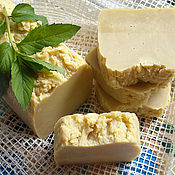 Косметика ручной работы handmade. Livemaster - original item PEPPERMINT CASTILE olive soap with menthol and oil-the extract of parsley. Handmade.