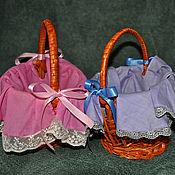 Baskets handmade. Livemaster - original item Small baskets (blue and pink). Handmade.