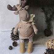 Куклы и игрушки handmade. Livemaster - original item Moose Johan. interior toy. Handmade.