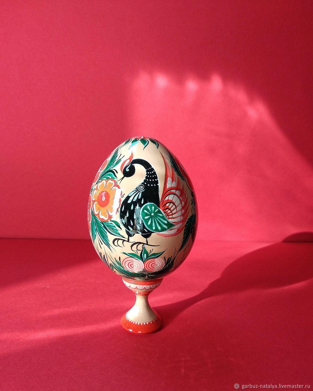 Сувениры ручной работы. Ярмарка Мастеров - ручная работа. Купить Народные сувениры: Пасхальное яйцо. Handmade. Роспись по дереву, ромашки