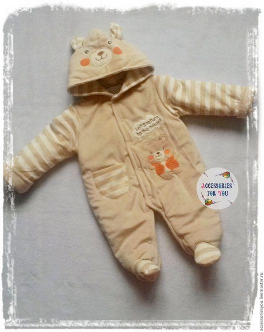 """Для новорожденных, ручной работы. Ярмарка Мастеров - ручная работа. Купить Комбенизон """"Pooh bear"""". Handmade. Винни Пух, на выписку"""
