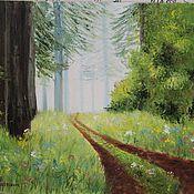 """Картины и панно ручной работы. Ярмарка Мастеров - ручная работа Картина маслом """" Сказочный лес"""". Handmade."""