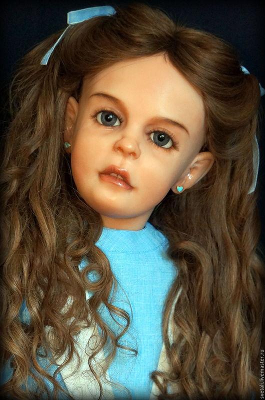Коллекционные куклы ручной работы. Ярмарка Мастеров - ручная работа. Купить СОФИЯ 107СМ. Handmade. Голубой, кукла своими руками