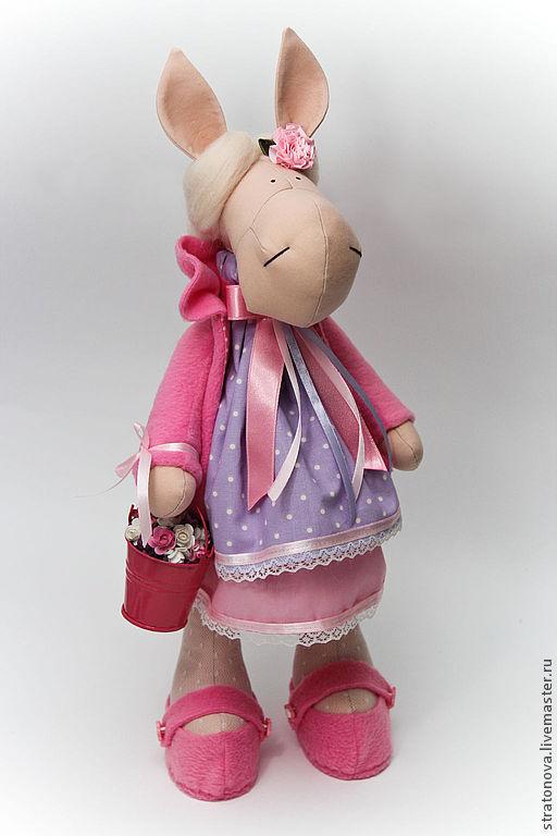 Игрушки животные, ручной работы. Ярмарка Мастеров - ручная работа. Купить Лошадка текстильная. Handmade. Розовый, игрушка в подарок
