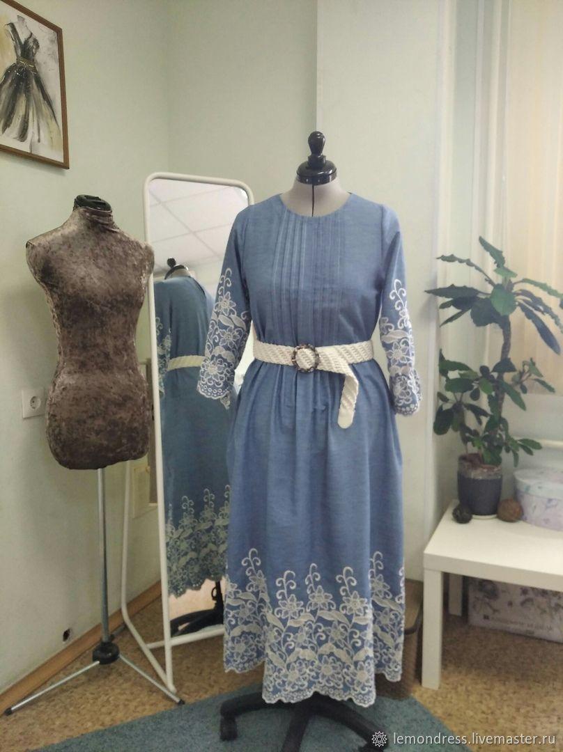 Платье с застроченными складками, Платья, Санкт-Петербург,  Фото №1