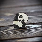 Украшения handmade. Livemaster - original item Wooden icon Panda. Handmade.