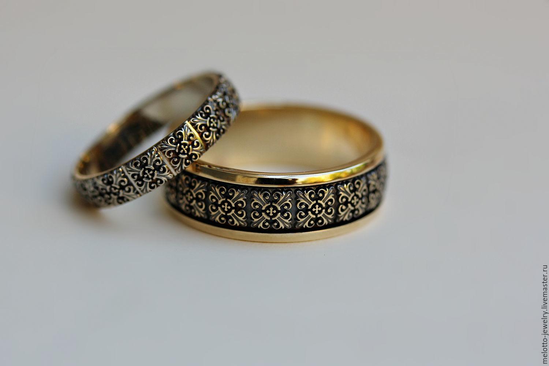 61becc7fe790 Свадебные украшения ручной работы. Ярмарка Мастеров - ручная работа. Купить  Красивые винтажные обручальные кольца
