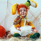 Куклы и пупсы ручной работы. Ярмарка Мастеров - ручная работа Коллекционная кукла Зайка Солнечный Праздник. Handmade.
