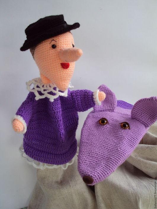 Кукольный театр ручной работы. Ярмарка Мастеров - ручная работа. Купить Игрушки на руку / Шапокляк и  крыска Лариска. Handmade.