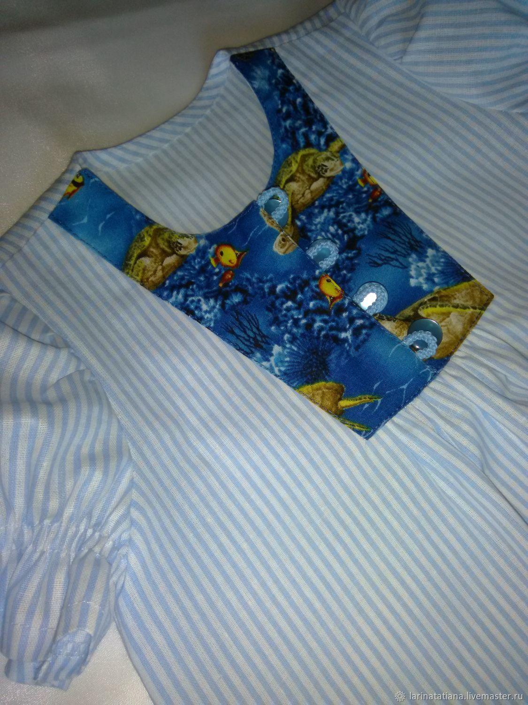 """Платье для девочки летнее """"Обитатели морских глубин"""""""