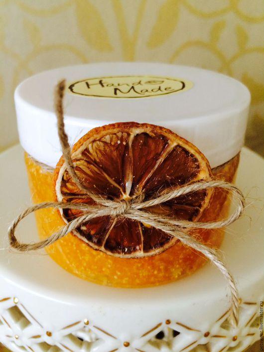 """Скраб ручной работы. Ярмарка Мастеров - ручная работа. Купить Сахарный скраб""""Апельсиновый фреш""""гидрофильно-мыльный. Handmade. Оранжевый, скраб купить"""