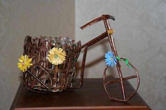 Кашпо ручной работы. Ярмарка Мастеров - ручная работа. Купить Велосипед. Handmade. Газета, бумага