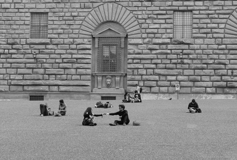Lu. `Двое во Флоренции`, Авторская фотокартина, Флоренция, 2013 г.