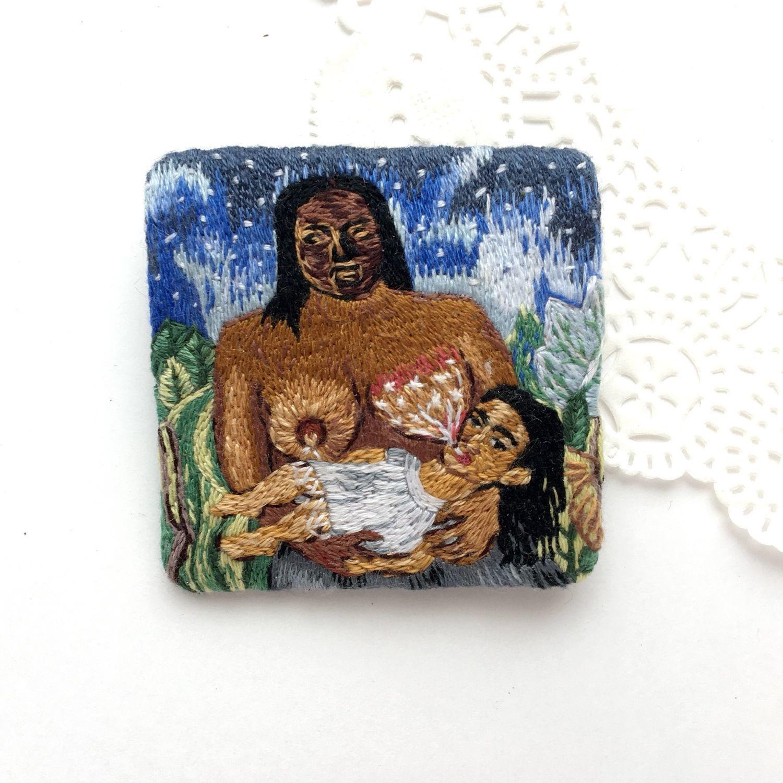 Brooch pendant Frida Kahlo'My wet nurse and I', Brooches, Kemerovo,  Фото №1