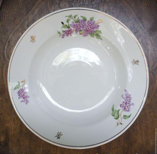 Винтажная посуда. Ярмарка Мастеров - ручная работа. Купить Старая тарелка сирень      Дулево. Handmade. Черный, фарфор, интерьер