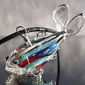 Украшения handmade. Livemaster - original item Prometheus fish pendant Venetian glass. Handmade.