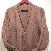 Одежда handmade. Livemaster - original item Men`s knitted cardigan