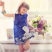 Работы для детей, ручной работы. Ярмарка Мастеров - ручная работа Шелковое платье для маленькой принцессы!. Handmade.