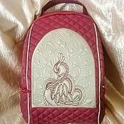 Рюкзаки ручной работы. Ярмарка Мастеров - ручная работа Рюкзак с вышивкой Павлин. Handmade.