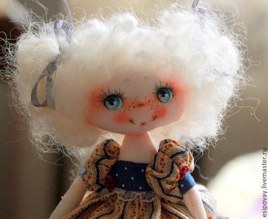 Коллекционные куклы ручной работы. Ярмарка Мастеров - ручная работа. Купить Эля. Handmade. Кудряшки, хлопок