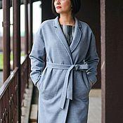 Одежда ручной работы. Ярмарка Мастеров - ручная работа Пальто-кокон Голубая дымка. Handmade.