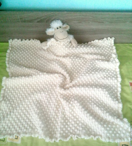 Для новорожденных, ручной работы. Ярмарка Мастеров - ручная работа. Купить Плед для новорожденного на выписку, в коляску, кроватку. Handmade.