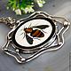 Pendant 'Bee' - the Florentine mosaic silver. Pendants. Izovella. Online shopping on My Livemaster.  Фото №2
