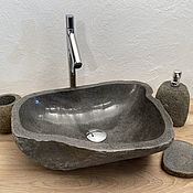 Мебель для бани и сауны ручной работы. Ярмарка Мастеров - ручная работа Раковина из речного камня. Handmade.
