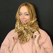 Аксессуары handmade. Livemaster - original item Fur scarf with a predatory pattern. Handmade.