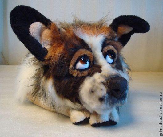Игрушки животные, ручной работы. Ярмарка Мастеров - ручная работа. Купить портрет собаки. Handmade. Чёрно-белый, пуговицы