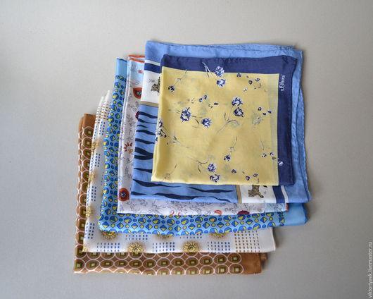 Винтажная одежда и аксессуары. Ярмарка Мастеров - ручная работа. Купить Винтажные шёлковые платочки. Handmade. Платок, витажный платок