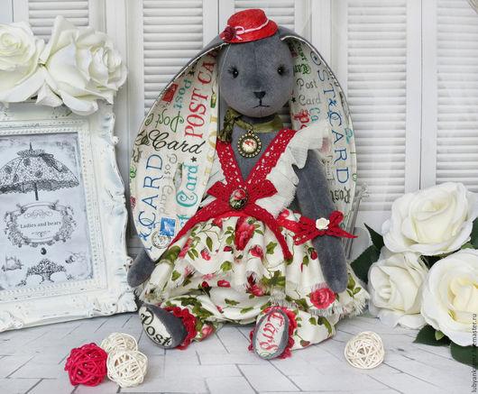зайка тедди зайка. заяц купить. игрушка заяц. игрушка зайка. зайчонок. зай. кролик. серый заяц. зайка серый. зайчик красивый. салон игрушек леди и медведи. леди и медведи. мягкие игрушки. в шляпке