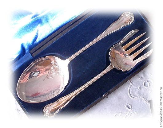 Винтажная посуда. Ярмарка Мастеров - ручная работа. Купить Сервировочный набор. Серебрение. Англия. Handmade. Серебряный, винтаж, ложка, Серебрение