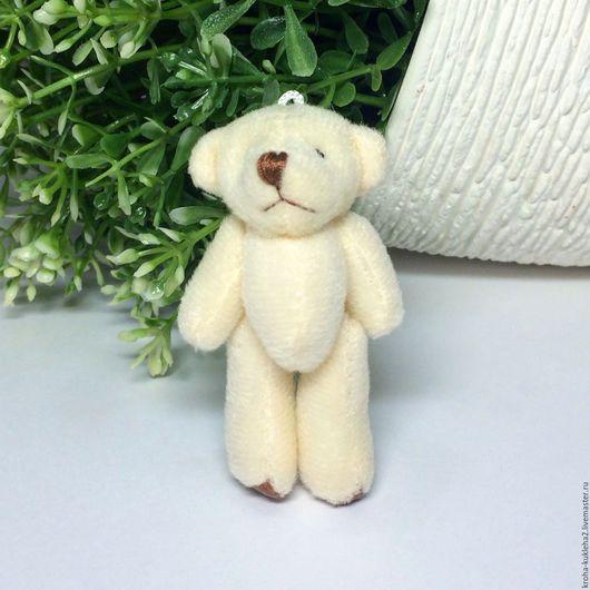 """Игрушки животные, ручной работы. Ярмарка Мастеров - ручная работа. Купить Мишка для кукол """"Кожаные лапки"""" (6 см). Handmade."""