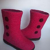 Обувь ручной работы. Ярмарка Мастеров - ручная работа Валеночки для девочки. Handmade.