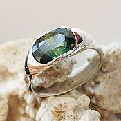 Украшения handmade. Livemaster - original item Multi-color Yellow Blue Green Sapphire Ring (2,34 ct). Handmade.