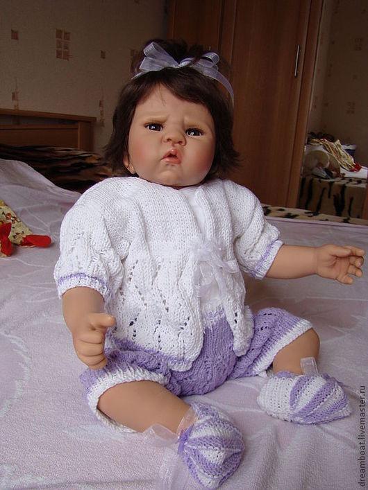 Одежда для кукол ручной работы. Ярмарка Мастеров - ручная работа. Купить Комплект сиреневый с белым. Handmade. Сиреневый