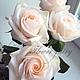 Искусственные растения ручной работы. Чайные розы из полимерной глины (холодного фарфора). Цветочная Фея (feya-tsvetochna). Интернет-магазин Ярмарка Мастеров.
