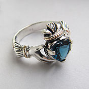 Свадебный салон handmade. Livemaster - original item Ring with London Topaz